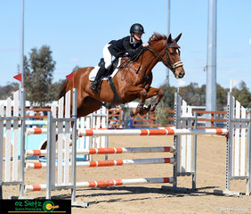 With great technique in the Oz Shotz sponsored CCI2*, Madison Simpson and Flying Star made it look easy in the show jumping phase.