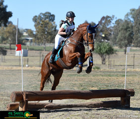 Manx Magic flew around the EvA 60 cross country course with ease on the final day of the Tamworth International One Day Event with rider, Jayde Newling aboard.