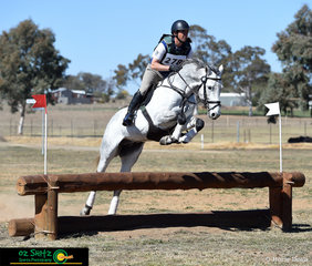 Keeping busy with plenty of rides at the Tamworth International One Day Event was Andrew Barnett, pictured here with his ride on Oscar Park Deluge in the EvA 95 Open division.
