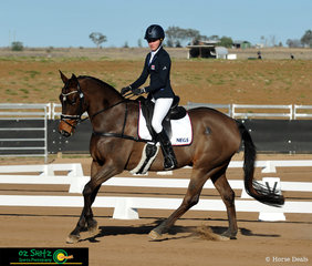 Sitting first after the dressage, show jumping and cross country, Katie Hancock and Leo Degas take the win in the EvA95 Junior class at the Tamworth International One Day Event.