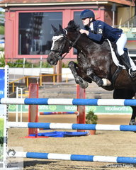 Emily Ballard from Wamuran in Queensland took fourth place in the Junior Championship this morning riding her Australian Stock Horse, 'Bramley Star'.