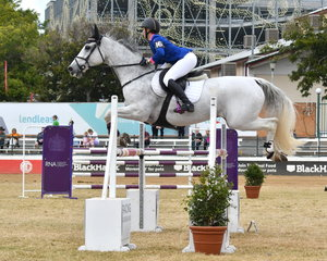 Courtney Tincknell from Yandina in Queensland has had a great show and is pictured aboard her 'Limo' on their way to winning the Group C Championship on the last day of the 2019 Royal Queensland Show.