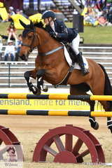 Samantha Dernee from Tamworth in NSW rode her 'Lady Gaga G' to third place in the Group C Championship.