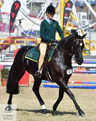 Ella Devantier rode her, 'Washington DC' (Koorala Ace of Spades/Tofu) to take third place in the ASHLA class. She also received the award for Best Novice and Best Junior ASHLA Rider.