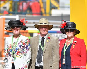 Without them, the show would not go on. L-R Pony Judge, Marion MacLennan from Scotland and Honorary Council; Stewards, Paul Schuster and Michelle Flemming.