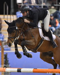 Tom McDermont jumped a double clear round aboard Carlaus Pausin for second place in the Waratah Showjumping CSI 1* 1,40m. Tom also placed fifth in this class with Yalambi's Finnigan.