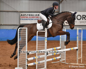 """Madeline Wilson in the EvA80 Section 1 Showjumping phase riding """"Cil Dara Dexter"""""""