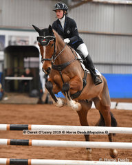 """""""Shaggy"""" ridden by Lilly McGregor in the EvA80 Section 1"""