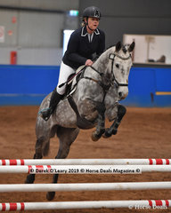 """Hannah Woodcock riding """"DJ Brilliant Future"""" in the EvA80 Section 5 Showjumping phase"""