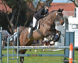 """Abby Walker riding """"Northern Irresistible"""" in the EvA95 Section 3 Showjumping phase"""