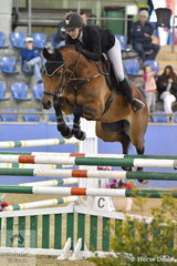 Maddison Stephen and Yalambi's Ikon finished with six faults in the Suzie and Pip Middleton 1.25m for horses 7 years old.