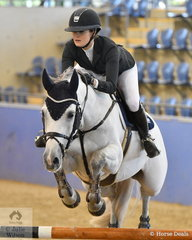Amelia Douglass rode Upperclass Z to post just one time fault in the Antares Australia 1.30-1.35m Open Art.238 2.1.
