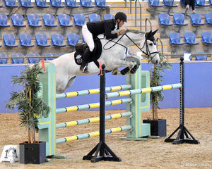 Rhys Stones rode Riverton Rose Royale to take second place in the Antares Australia 1.30-1.35m Open Art.238 2.1.