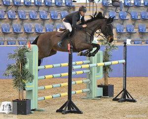 Leon Carroll riding Verdelho RJ3 took fifth place in the Antares Australia 1.30-1.35m Open Art.238 2.1.