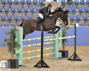 Leon Carroll riding Verdelho RJ3 took fifth place in the Antares Australia 1.30-1.35m Open Art.238 2.1.