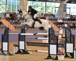 David Cameron rode Finch Farm Clifford to ninth place  in the Waratah Showjumping Grand Prix CSI1*W.