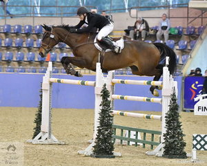 Aaron Hadlow riding Vahlinvader took fifth place  in the Waratah Showjumping Grand Prix CSI1*W with four faults in both rounds.