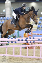 Jessica Knox jumped all the obstacles clear riding Cassando B in the Sutton Ouverture Sport Horses Future Stars, but a failure of the GPS resulted in some time faults.