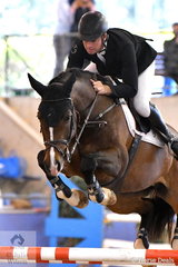Tom McDermont rode two beautiful rounds aboard Schatzi for just one time fault and third place in the Sutton Ouverture Sport Horses Future Stars Art. 273.3.3.1.