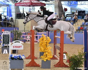 Jessica Kent and Denison Dark Cassisi finished with nine faults in The Riders Cup Mini Prix Art. 273.3.3.1.
