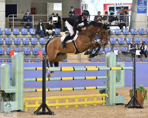 Tom McDermott rode the exciting Yalambi's Finnigan to third place in The Riders Cup Mini Prix Art. 273.3.3.1.