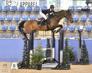 Jess Rice-Ward rode a great jump-off round aboard CP Southern Cross to win The Riders Cup Mini Prix Art. 273.3.3.1.