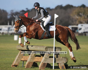 """Winner of the EvA95 Section 5, Laura King riding """"Captivate ME"""" with a final score of 20.8"""