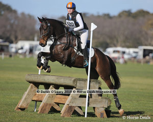 """Winner of the EvA95 Section 6, Chloe Jaksic riding """"Holy Roller"""" with a final score of 29.5"""