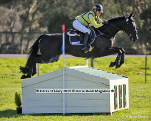 Winner of the CCN4*-S, Amanda Ross and Koko Popping Candy, finishing on a score of 32.2