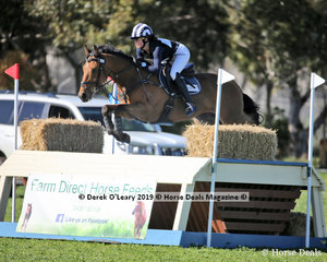 """Placed 3rd in the CCN4*-S, Sophia Landy riding """"Humble Glory"""" with a final score of 45.9"""