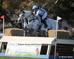 """Rebekah Italiano placed 5th in the CCN4*-S riding """"ESB Irish Patience"""" with a final score of 48.3"""