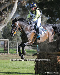 """Amanda Ross also took out second place in the CCN4*-S, an amazing effort, this time riding """"Dondiablo"""" with a final score of 37.3"""