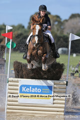 """Georgina Birrell in the CCN3*-S riding """"Marlborough View"""" placing 5th with a final score 55.1"""