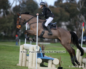 """Winner of the CCN1*-S Section 3, Manon Schey riding """"Northern Farrington"""" with a final score of 32.8"""