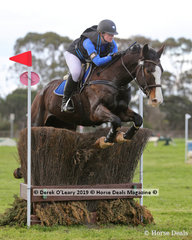 """Kristen Lenne placed 2nd in the CCN1*-S Section 3 riding """"Highview Park Reload"""" with a final score of 33.3"""