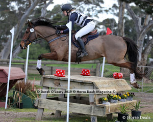 """Julie Bramucci in the CCN1* Section 3 riding """"Rafiki Cielo"""""""