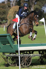 """Second place in the CCN2*-S went to Nina Griffiths riding """"Mr Zizou"""" with a final score of 34.8"""