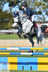Hannah Conlon rode, 'Emma Peel GNZ' to fourth place in the Junior Jumping class this morning.