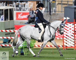Keeley Menadue's, 'Belrose Park Small Talk' took third place in the class for Novice Pony 13-13.2hh.