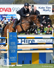 Stephen Dingwall from the ACT rode his, 'Cavalier du Rouet' to fourth place in the part 1 jump off class.