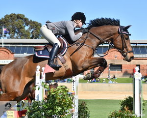 Jess Pateman (formerly Barton) rode her 'Celso' to take third place in the Part 1 jump off class today.