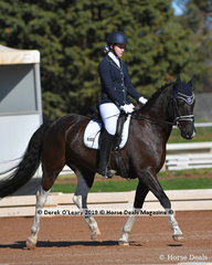Kings Black Flashes of White.ridden by Lily de Hennin in the Preliminary 1A