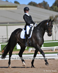 """""""Bestseller"""" ridden by Pernille Hogg was the winner in the Elementary Championship"""