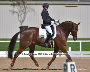 """""""Diors Hit"""" ridden by Heidi Vowles in the Elementary 3B was the winner with a score of 68.375"""