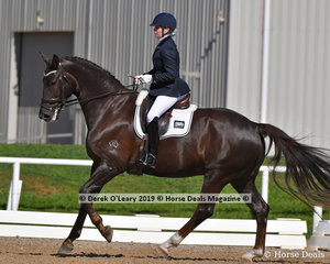 """Bloomfield Royal Artist"" placed second ridden by Shae Russo in the Elementary 3B with a score of 67.438%"