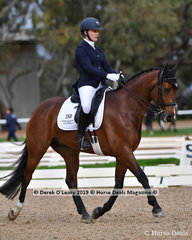 """""""Avella Fratellino"""" ridden by Isabella Dixon-Robertson placed 7th in the Medium Championship"""