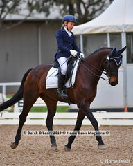 "Marianne Crawford rode ""Arum Jazzper"" placing equal 4th in the Medium Championship with a total score of 64"