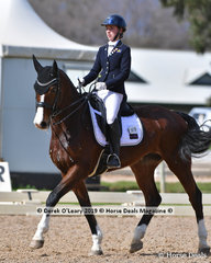 """Jazzabelle"" ridden by Sophie Taylor in the Medium Championship"