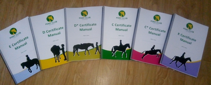 The new look Certificate manuals for Pony Club members.