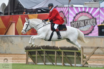 Clinton Alcock rode , 'Ike' to fourth place in the class for Gentleman;s Hunter on the seond last day of the 2019 Adelaide Royal Show.